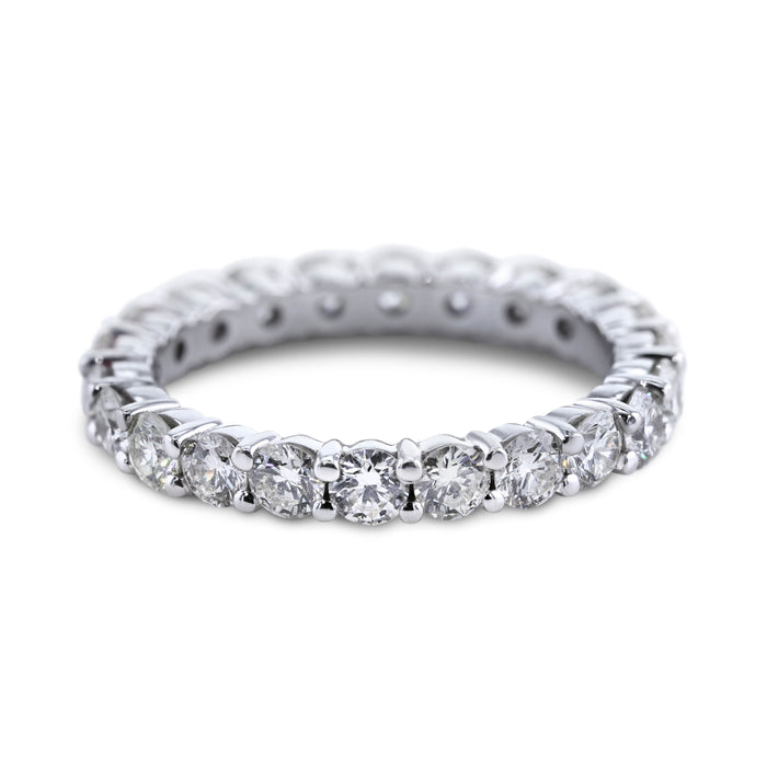 2.4 Carat Diamond Wedding Band - 18K White Gold Eternity Setting #E206W_RD2
