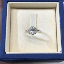 Load image into Gallery viewer, 2.15 CARAT OVAL SHAPE MOISSANITE SOLITAIRE ENGAGEMENT RING 14K WHITE GOLD #M10051