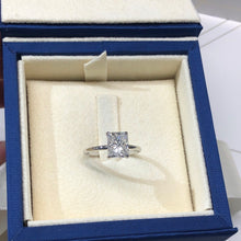 Load image into Gallery viewer, The Harper Lab Grown Ring - 2 CARAT RADIANT E VS2 ULTRA-THIN DIAMOND ENGAGEMENT RING - 14K WHITE GOLD #LG10008