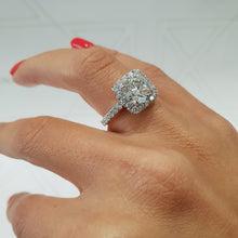 Load image into Gallery viewer, The Sienna Engagement Ring - 2 Carat D Color VS1 Clarity Cushion Style Halo Diamond Ring #J99162