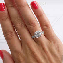 Load image into Gallery viewer, Private Listing for Bridal Set - 2.5 CARAT E VS2 HIDDEN HALO RADIANT* CUT DIAMOND BRIDAL SET