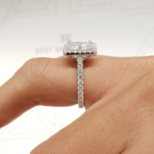 Load image into Gallery viewer, The Selena Engagement Ring - 2.75 CARAT PRINCESS CUT E VS2 HALO DIAMOND RING #J99217
