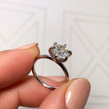 Load image into Gallery viewer, The Eloise Engagement Ring - 2 CARAT ROUND E VS2 ULTRA-THIN SOLITAIRE RING - 6 CLAWS STYLE #J99283