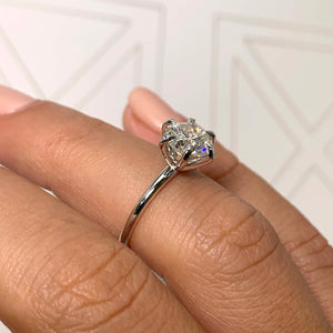 The Eloise Engagement Ring - 2 CARAT ROUND E VS2 ULTRA-THIN SOLITAIRE RING - 6 CLAWS STYLE #J99283