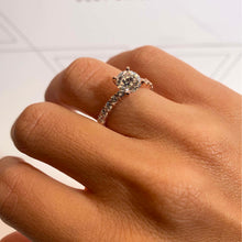 Load image into Gallery viewer, The Jenna Engagement Ring - 2 CARAT ROUND ETERNITY DIAMOND RING #J99301