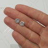 3 Carat D Color VVS1 Clarity Forever One Stud Earrings - 14K white Gold #ME1006
