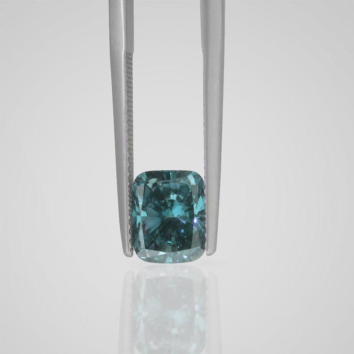2.07 Carat Cushion Fancy Deep Blue SI1 Natural Certified Loose Diamond - Best Brilliance