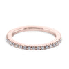 0.3 Carat Diamond Wedding Band - 14K Rose Gold Classic Setting #SR322W_RDR