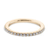 0.3 Carat Diamond Wedding Band - 18K Yellow Gold Classic Setting #SR322W_RDY2