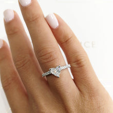 Load image into Gallery viewer, Audrey Engagement Ring  - 1.3 CARAT HEART SHAPED F VS2 DIAMOND 14K WHITE GOLD RING #J99275