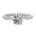 1.62 Carat Round Brilliant D VS2 - 14K White Gold Diamond Engagement Ring