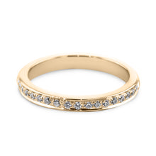 Load image into Gallery viewer, 0.18 Carat Diamond Wedding Band - 18K Yellow Gold Channel Setting #SR504W_RDY2