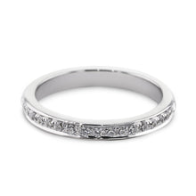Load image into Gallery viewer, 0.18 Carat Diamond Wedding Band - 14K White Gold Channel Setting #SR504W_RD