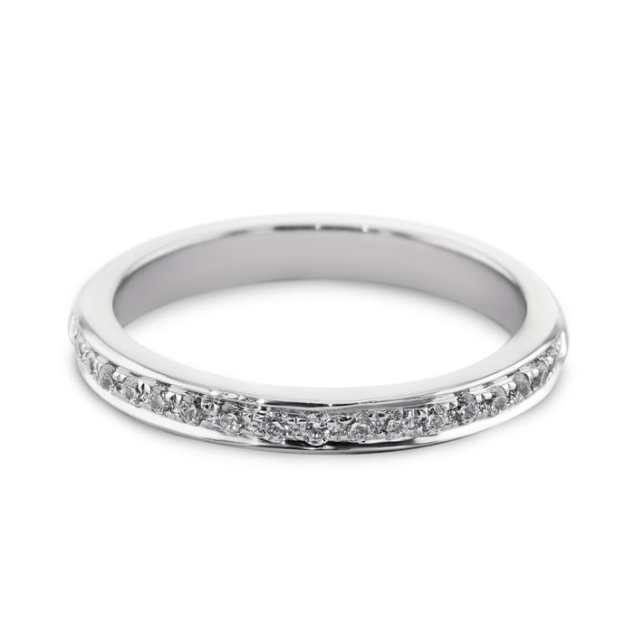 0.18 Carat Diamond Wedding Band - 14K White Gold Channel Setting #SR504W_RD