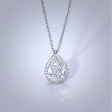 Load image into Gallery viewer, The Nancy Necklace - 2 Carat Pear Shaped Halo Pendant