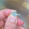 2 CARAT CUSHION SHAPED LAB GROWN DIAMOND ENGAGEMENT RING - 14K WHITE GOLD #LG10013