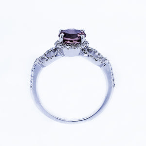 1.50 CARAT PINK TOURMALINE ENGAGEMENT GALO RING 14K WHITE GOLD #BBG10005A