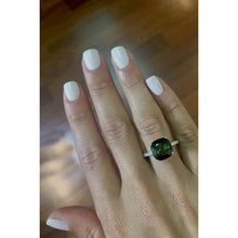 Load image into Gallery viewer, 6.18 Carat Natural Cushion Shaped Light Green Gemstone - 14K White Gold Ring #BBG10007