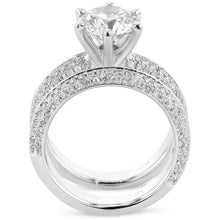 Load image into Gallery viewer, 2.5 CARAT KNIFE EDGE DIAMOND ENGAGEMENT RING - PLATINUM