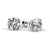 1.4 Carat F Color SI3 Clarity Diamond Stud Earrings - 18K White Gold #E1005
