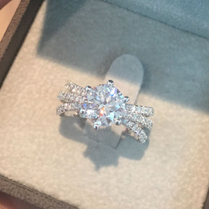 2.5 CARAT D SI1 ROUND BRILLIANT 6 PRONGS 14K WHITE GOLD ENGAGEMENT RING #J99937