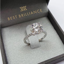 Load image into Gallery viewer, 2.3 Carat F VS2 Diamond Engagement Ring - 14K White Gold Solitaire Ring #J99129
