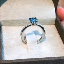Load image into Gallery viewer, 1.3 CARAT FANCY BLUE COLOR VS2 CLARITY DIAMOND ENGAGEMENT RING 14K WHITE GOLD #J99942