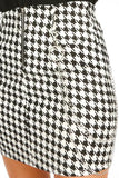 Dogtooth mini skirt with chain detail - bella, Prettyrebel.com