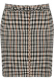 Brown check belted mini skirt - jade, Prettyrebel.com