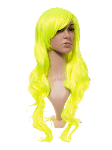 Fluorescent Long Curly Party Wig - Pretty Rebel