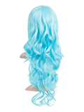 Lagoon Blue Long Curly Party Wig - Pretty Rebel