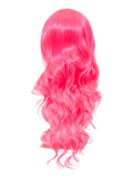 Carnation Pink Long Curly Party Wig, Prettyrebel.com