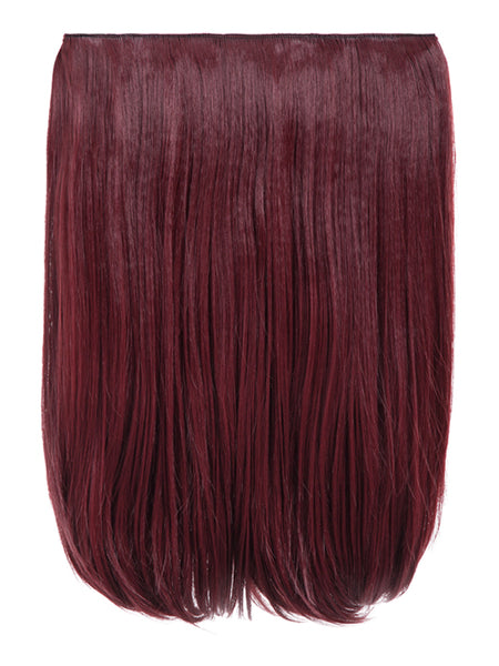 Dolce 1 Weft 18″ Straight Hair Extensions In Burgundy, Prettyrebel.com