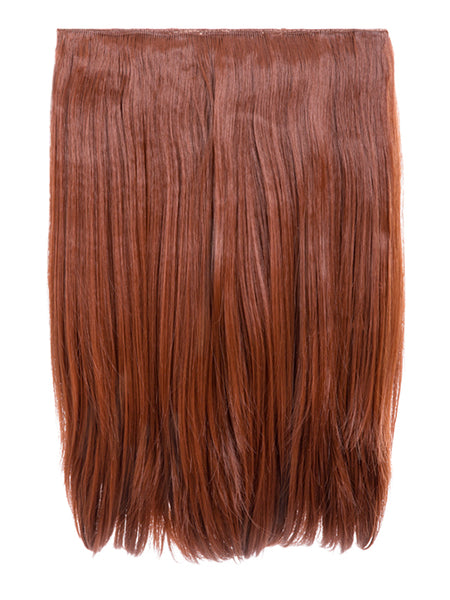 Dolce 1 Weft 18″ Straight Hair Extensions In Copper Red - Pretty Rebel