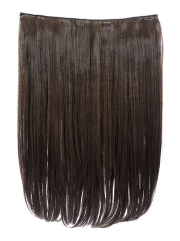 Dolce 1 Weft 18″ Straight Hair Extensions In Dark Brown and Caramel
