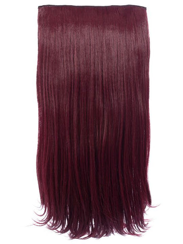 Envy 3 Weft Straight 22″-24″ Hair Extensions in Burgundy - Pretty Rebel