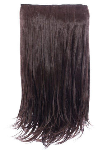 Envy 3 Weft Straight 22″-24″ Hair Extensions in Chocolate Brown