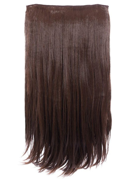Envy 3 Weft Straight 22″-24″ Hair Extensions in Chestnut Brown - Pretty Rebel