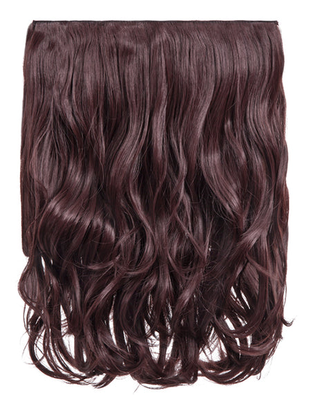 Rosie 1 Weft 16″ Curly Hair Extensions In Plum