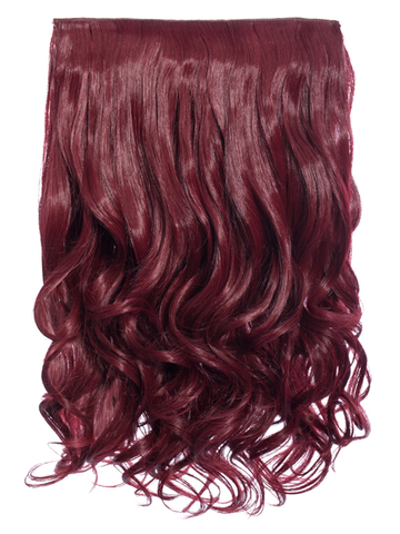 Selena 1 Weft Curly 20″ Hair Extensions In Burgundy - Pretty Rebel