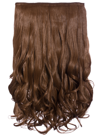 Selena 1 Weft Curly 20″ Hair Extensions In Golden Brown - Pretty Rebel