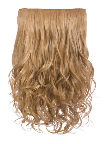 Selena 1 Weft Curly 20″ Hair Extensions In Caramel Blonde - Pretty Rebel