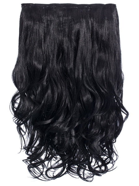 Selena 1 Weft Curly 20″ Hair Extensions In Jet Black - Pretty Rebel