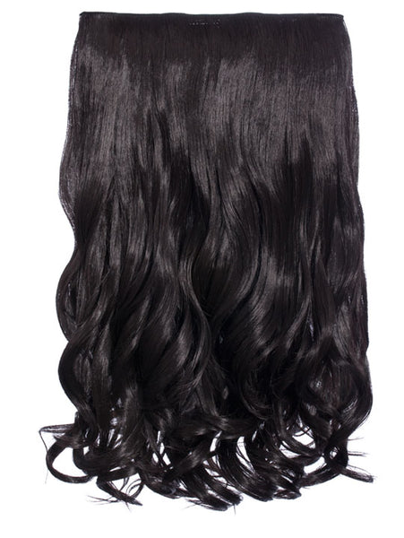 Selena 1 Weft Curly 20″ Hair Extensions In Raven