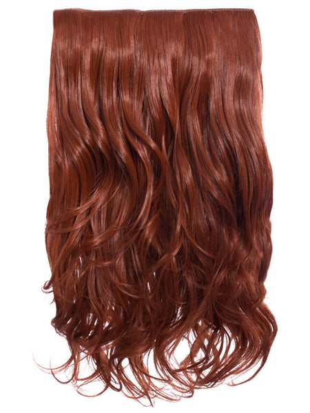 Selena 1 Weft Curly 20″ Hair Extensions In Copper Red - Pretty Rebel