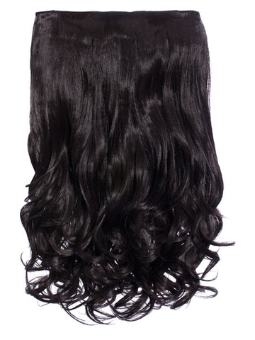 Selena 1 Weft Curly 20″ Hair Extensions In Dark Brown - Pretty Rebel