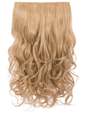 Selena 1 Weft Curly 20″ Hair Extensions In Golden Blonde - Pretty Rebel