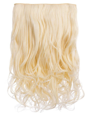 Selena 1 Weft Curly 20″ Hair Extensions In Pure Blonde