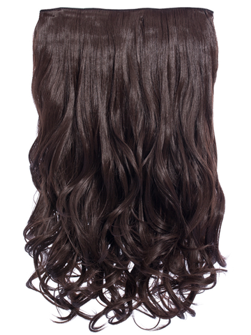 Selena 1 Weft Curly 20″ Hair Extensions In Chocolate Brown - Pretty Rebel