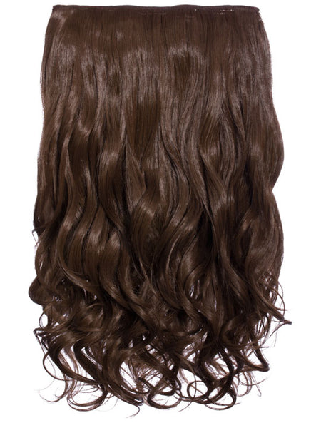 Selena 1 Weft Curly 20″ Hair Extensions In Chestnut Brown